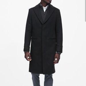 Banana Republic Classic Black Wool Coat
